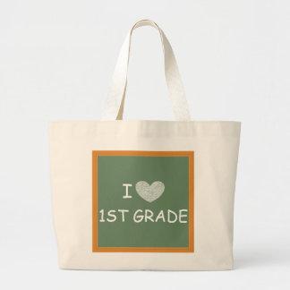 I Love 1st Grade Large Tote Bag