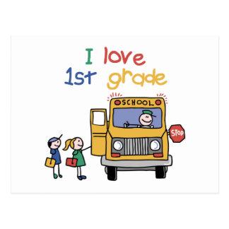 I Love 1st Grade Postcard