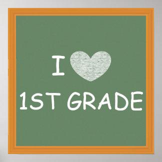 I Love 1st Grade Poster