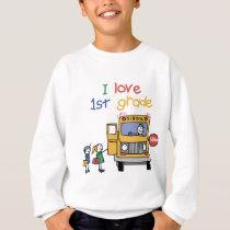 I Love 1st Grade Sweatshirt