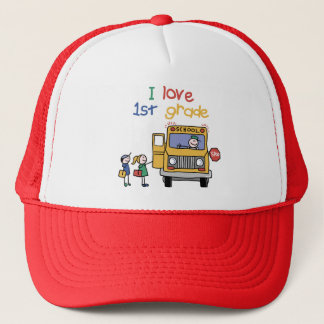 I Love 1st Grade Trucker Hat