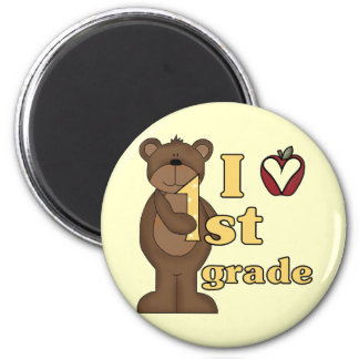 I Love 1st Grade Tshirts and Gifts 2 Inch Round Magnet