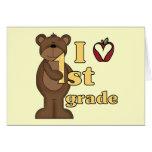I Love 1st Grade Tshirts and Gifts Greeting Card