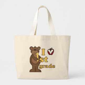 I Love 1st Grade Tshirts and Gifts Large Tote Bag