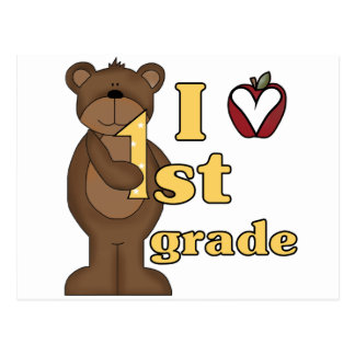 I Love 1st Grade Tshirts and Gifts Postcard