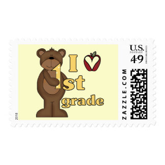 I Love 1st Grade Tshirts and Gifts Stamp