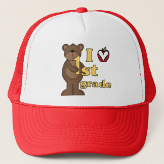 I Love 1st Grade Tshirts and Gifts Trucker Hat