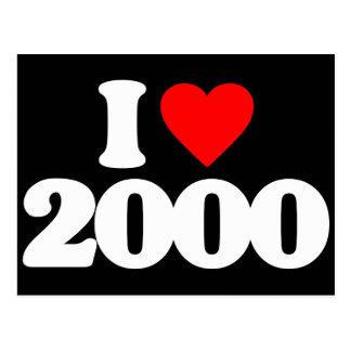 I LOVE 2000 POSTCARD