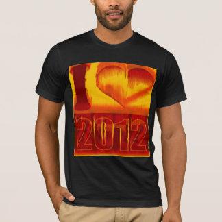 I love 2012 - Fire Pop Art Vintage T-Shirt