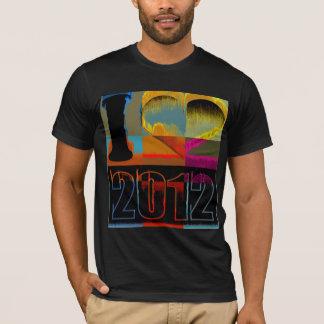 I love 2012 - Pop Art Vintage - T-Shirt