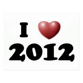 I Love 2012 Postcard
