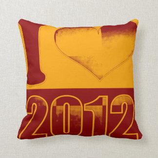 I love 2012 - Vintage Pillow