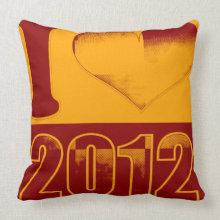 I love 2012 - Vintage Pillow throwpillow