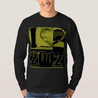 I love 2012 - Yellow, black Vintage T-Shirt