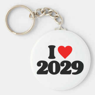 I LOVE 2029 KEYCHAIN
