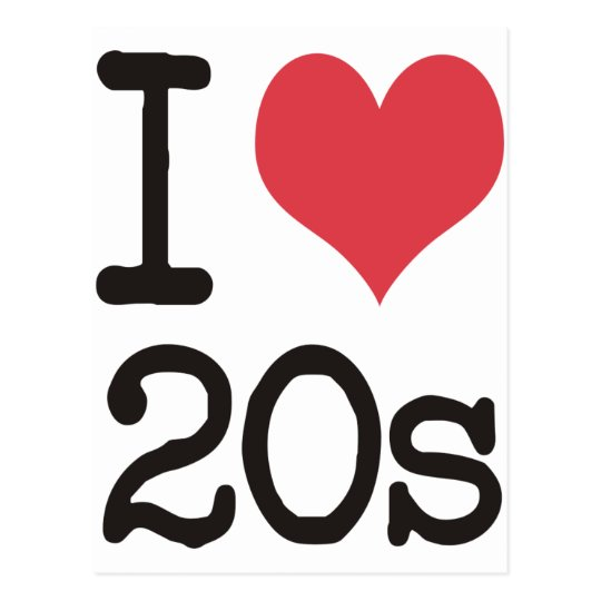 I Love 20s Products & Designs! Postcard