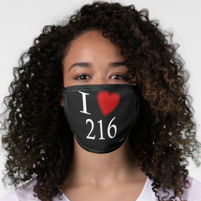 I Love 216 Cleveland Face Mask