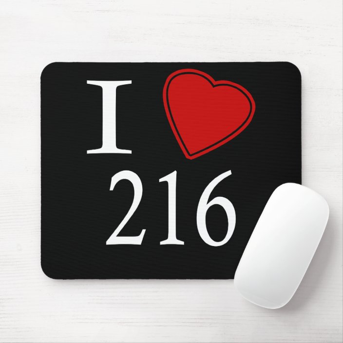 I Love 216 Cleveland Mouse Pad