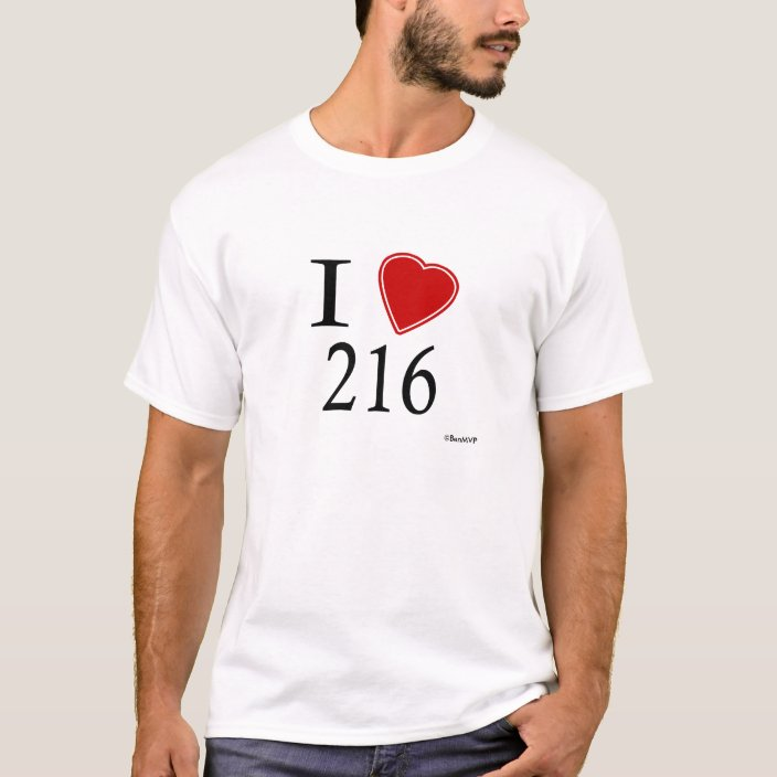 I Love 216 Cleveland T-shirt