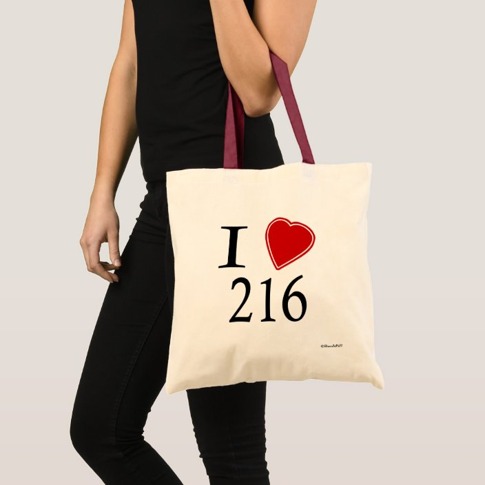 I Love 216 Cleveland Tote Bag