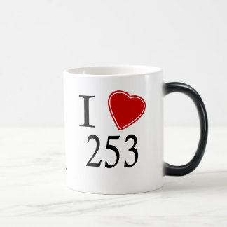 I Love 253 Tacoma Magic Mug