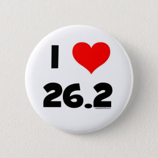 I Love 26.2 Button