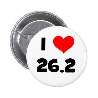 I Love 26.2 Button