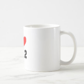 I Love 26.2 Classic White Coffee Mug