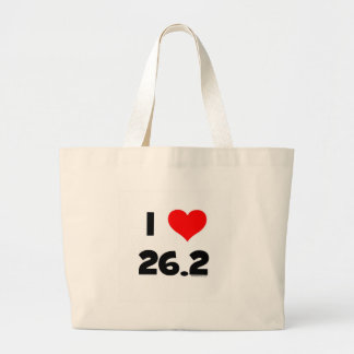 I Love 26.2 Large Tote Bag