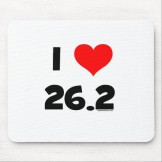 I Love 26.2 Mouse Pad
