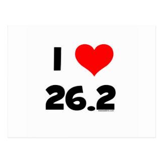 I Love 26.2 Postcard