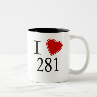 I Love 281 Houston Coffee Mugs