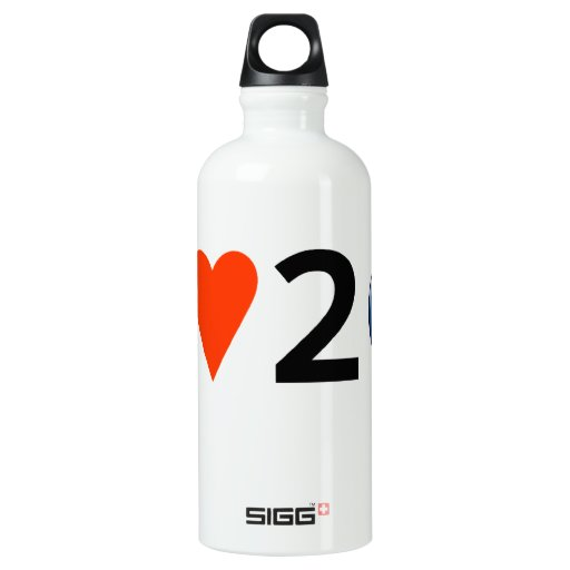 I LOVE 2 BEAD SIGG TRAVELER 0.6L WATER BOTTLE