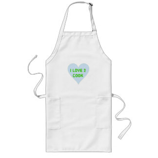 I Love 2 Cook Long Apron
