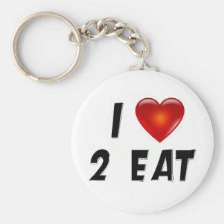 I Love 2 Eat Key Chain