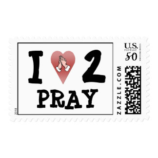 I Love 2 Pray Postage Stamp