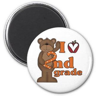 I Love 2nd Grade 2 Inch Round Magnet