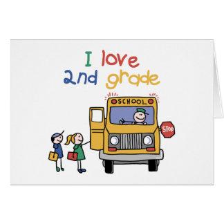 I Love 2nd Grade Greeting Card