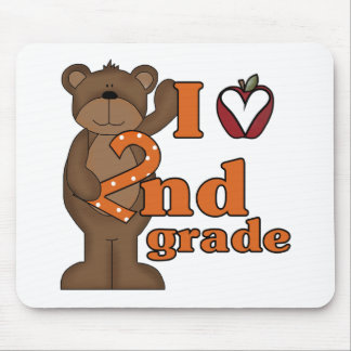 I Love 2nd Grade Mouse Pad