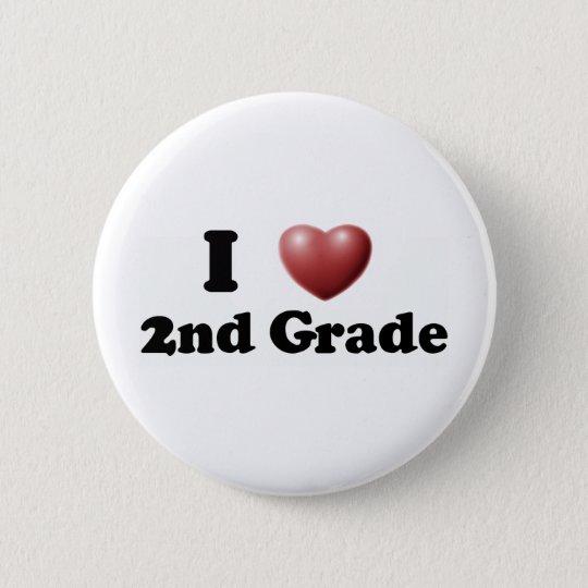 I Love 2nd Grade Pinback Button