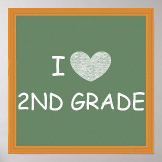 I Love 2nd Grade Poster