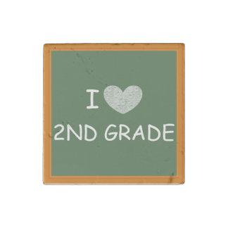 I Love 2nd Grade Stone Magnet