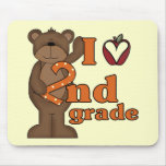 I Love 2nd Grade Tshirts and Gifts Mouse Pad