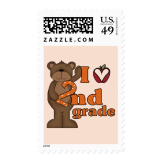 I Love 2nd Grade Tshirts and Gifts Postage