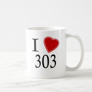 I Love 303 Denver Coffee Mug
