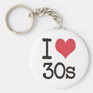 I Love 30s Products & Designs! Basic Round Button Keychain
