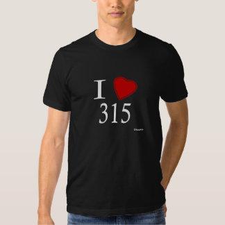 I Love 315 Syracuse T Shirt