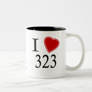 I Love 323 Los Angeles Coffee Mug