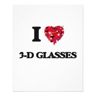 "I love 3-D Glasses 4.5"" X 5.6"" Flyer"