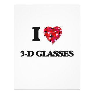 "I love 3-D Glasses 8.5"" X 11"" Flyer"
